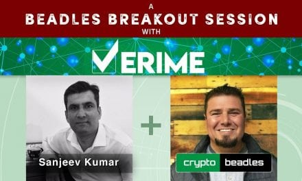 ICO Verime CoFounder Sanjeev Kumar Interview A Beadles Breakout Session