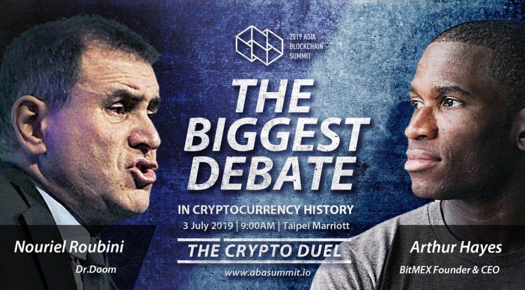 Will BitMEX CEO Arthur Hayes debate Bitcoin skeptic Nouriel Roubini