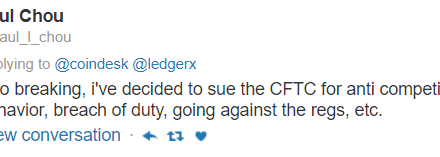 LedgerX suing CFTC for breach of duty in botched Bitcoin futures launch