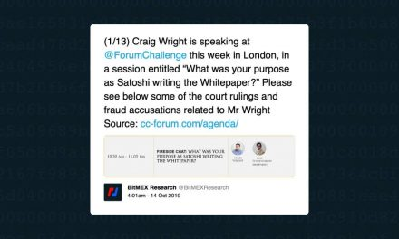 BitMEX Research and Charlie Lee denounce Craig Wright speaking at conference as Satoshi
