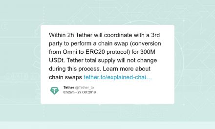 Tether conducted for a 300M USDT chain swap from Omni to Ethereum