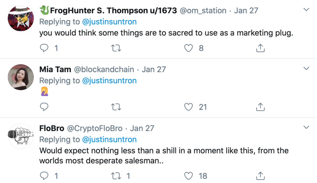 Is Twitter Helping Justin Sun and Other Cryptocurrency Celebrities Defraud?