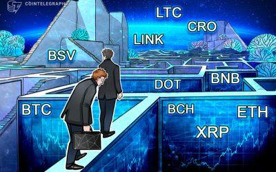 Price analysis 9/21: BTC, ETH, XRP, BCH, DOT, BNB, LINK, CRO, LTC, BSV