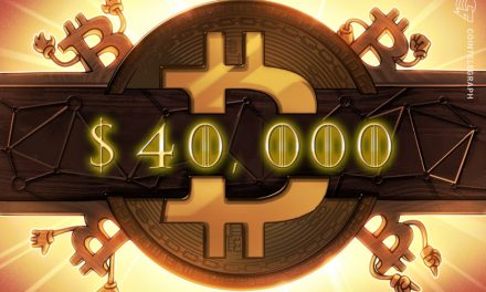 Bitcoin price hits $40,000 less than three weeks after shattering $20K